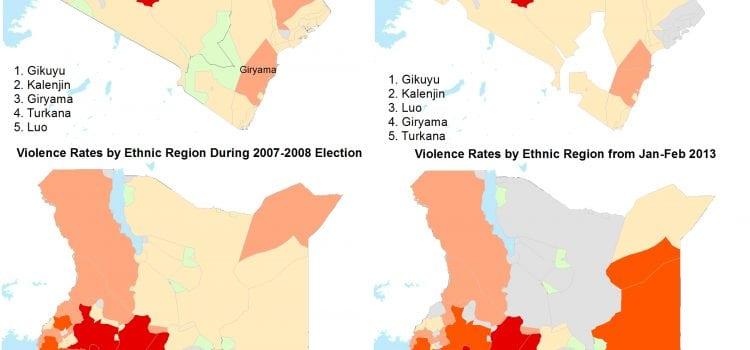 Kenyan Violence by Ethnic Region