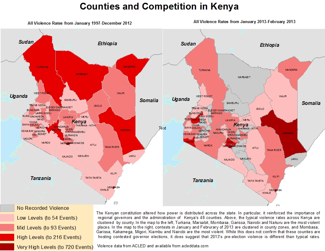 Kenyan Violence by County | Acled Data
