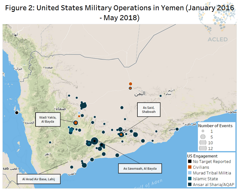 Us Involvement In Yemen Acled Data - Us-military-base-locations-map