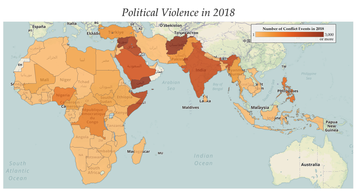 PRESS RELEASE: While overall violence has declined in 2018 ... on world map nigeria africa, world map lagos africa, world map djibouti africa, world map swaziland africa, world map india africa, world map botswana africa, world map ethiopia africa, world map angola africa, world map kenya africa, world map ghana africa,